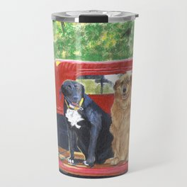 Antique Truck with Dogs Travel Mug