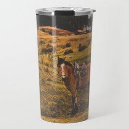 Horse among the sacred fields (Cusco, Peru) Travel Mug