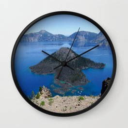 Crater Lake Volcanic Crater Oregon USA Wall Clock