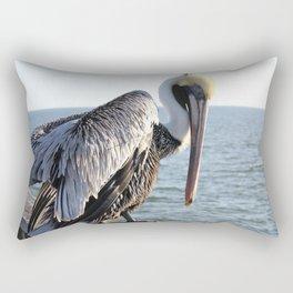 brown pelican, gulf pier, gulf shores, alabama Rectangular Pillow