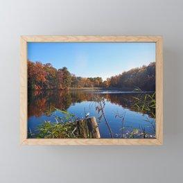 Colorful fall landscape - Creek in Maryland Framed Mini Art Print