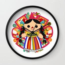 Maria 2 (Mexican Doll) Wall Clock
