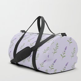 Artistic modern hand painted lavender floral pattern Duffle Bag