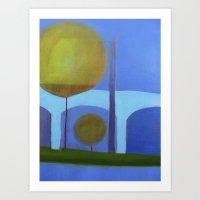 bridge Art Prints featuring bridge by Angella Meanix