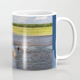 Natural bucolic view in Biebrza wetland Coffee Mug