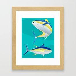 Ahi, Yellowfin Tuna, Vector Framed Art Print