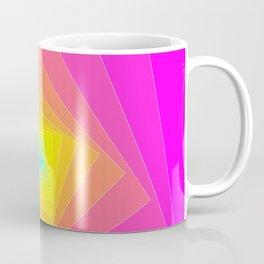 Magenta, Yellow, and Cyan Squares Coffee Mug