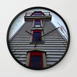 Garden Lighthouse Looking Up Wall Clock