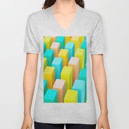 Color Blocking Pastels Unisex V-Neck