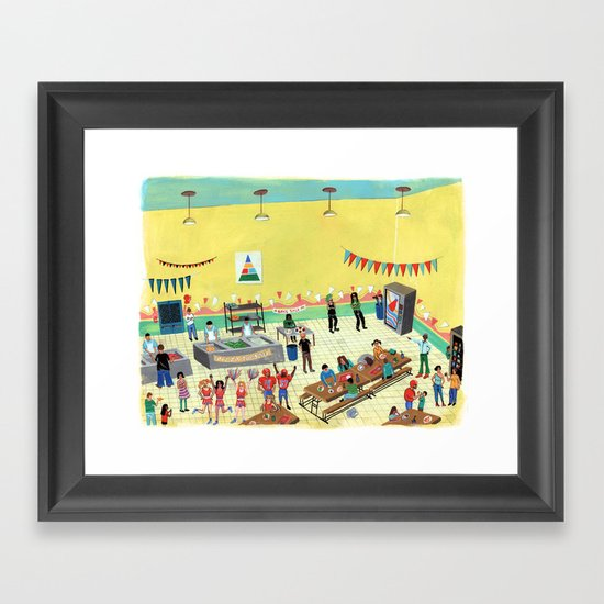 Pizza Tuesday Framed Art Print