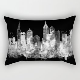 New York City Inverted Watercolor Skyline Rectangular Pillow