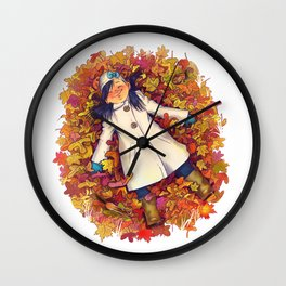 Fall love Wall Clock