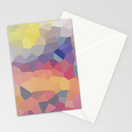Pastel Geometric Moon Rise Stationery Cards