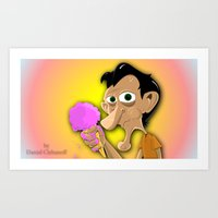 Ice Cream Break Art Print