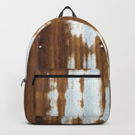 Rusted Corrugated Tin rustic decor Backpack