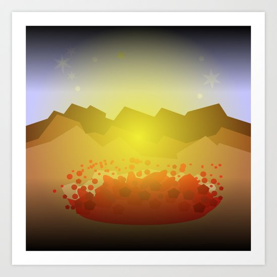 Icelandic volcano Art Print