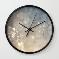 crystal Wall Clocks featuring crystal by Neon Wildlife