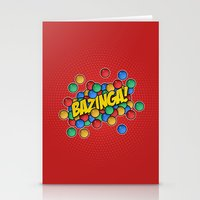 bazinga Stationery Cards featuring Bazinga! by Skeleton Jack