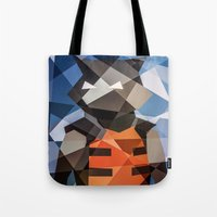 rocket raccoon Tote Bags featuring Rocket by Eric Dufresne