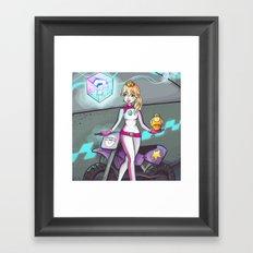 Racer Peach Framed Art Print