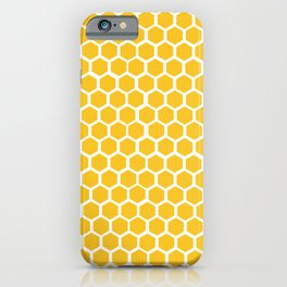 Honey-coloured Honeycombs iPhone Case