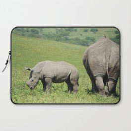 Rhino & Baby in South Africa Laptop Sleeve