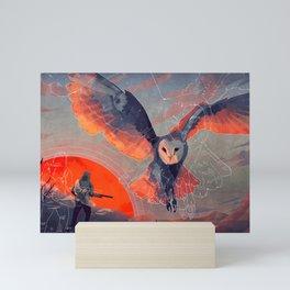 Owl Hunt Mini Art Print