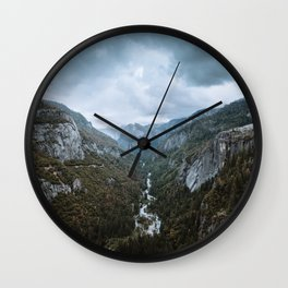 Yosemite Storm Clouds Wall Clock