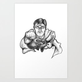Super Man Art Print
