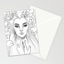 Lupine Love (black&white) Stationery Cards