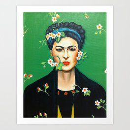 Alheli (Frida Kahlo) Art Print