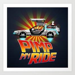 Pimp My DeLorean Art Print