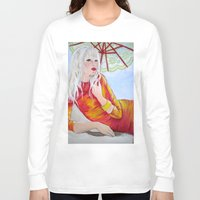 tequila Long Sleeve T-shirts featuring Tequila Sunrise by Geraldine Warrior