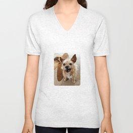 Grumpy Dog Unisex V-Neck