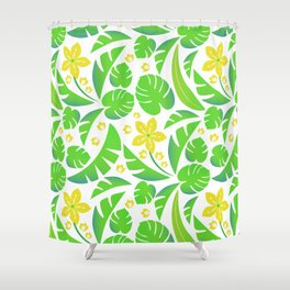 PERROQUET FLOWERS Shower Curtain