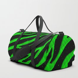 Ripped SpaceTime Stripes - Green Duffle Bag