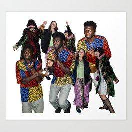 urban nomads dancing (white) Art Print