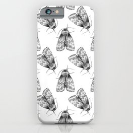 Moth Insect Pattern Pencil Drawing iPhone Case