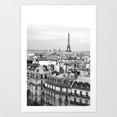 Paris Rooftops and the Eiffel Tower Art Print
