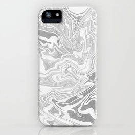 Gray Marble paper iPhone Case
