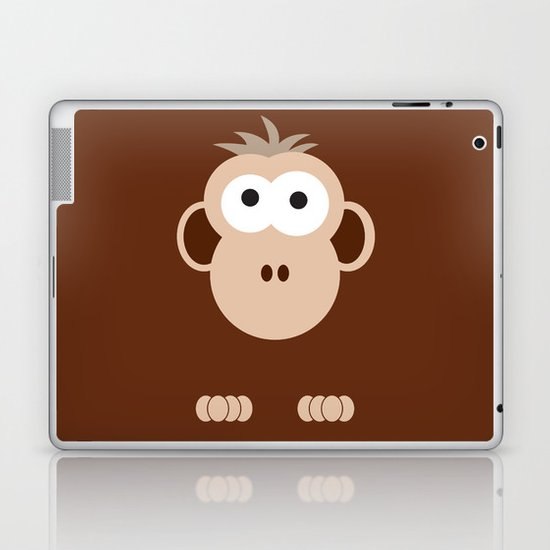 Minimal Monkey Laptop & iPad Skin