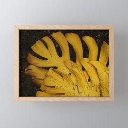 Not The Usual Fallen Leaves Framed Mini Art Print