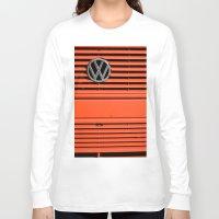 volkswagen Long Sleeve T-shirts featuring Red Volkswagen by Marieken