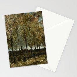 Van Gogh -Lane with Poplars near Nuenen Stationery Cards