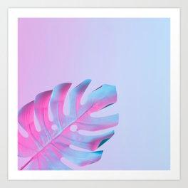 Neon Holographic Minimal 10 Art Print