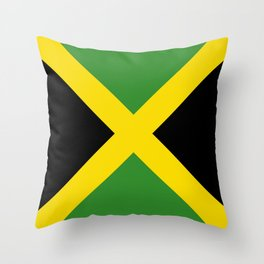 Flag of Jamaica-Jamaican,Bob Marley,Reggae,rastafari,weed,cannabis,ganja,america,south america,ragga Throw Pillow