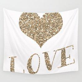 Glitter Heart Wall Tapestry