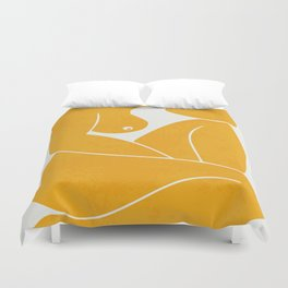 Day dream nude minimal Duvet Cover