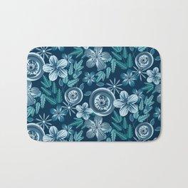 Blue June Floral Bath Mat