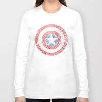 steve rogers Long Sleeve T-shirts featuring Who is Steve Rogers? by dailymantra